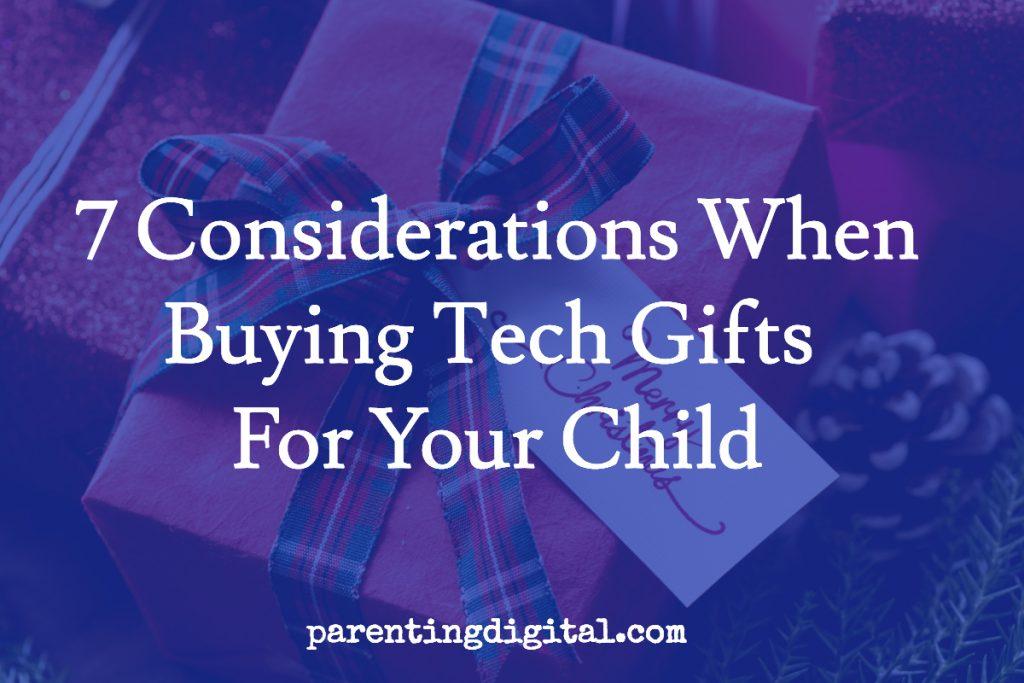 buying tech gifts