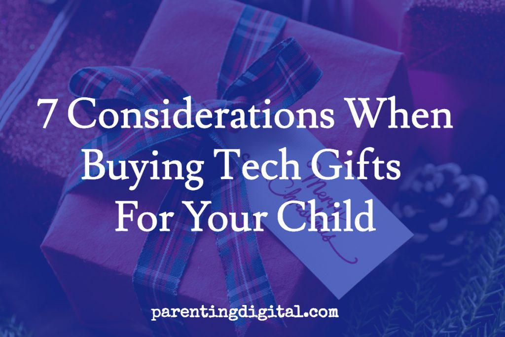 buying tech gifts